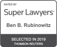 Ben Rubinowitz Super Lawyers 2019