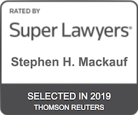 Stephen H. Mackauf Super Lawyers Selected 2019