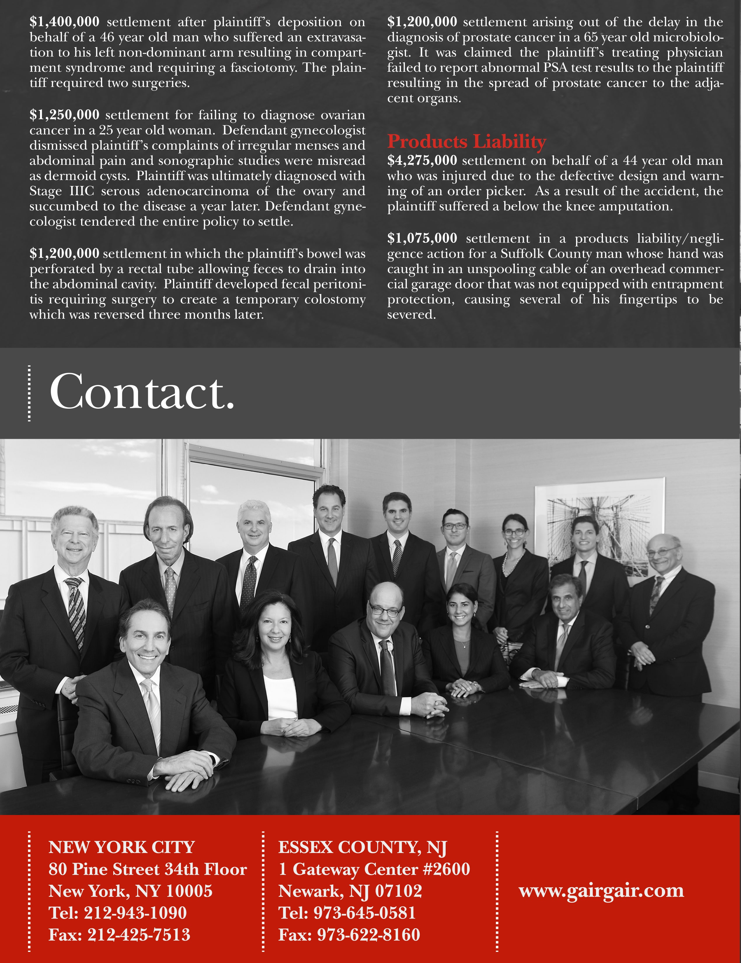 Notable Verdicts   New York Personal Injury Lawyers GGCRBHS&M