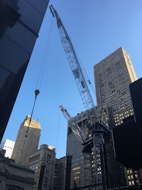 Crane at NYC construction site