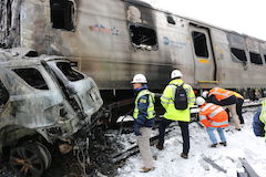 Train involved in accident